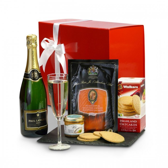 The Smoked Salmon and Ch&agne Gift Box  sc 1 st  Scottish Food And H&ers & Smoked Salmon and Champagne Gift Box Aboutintivar.Com
