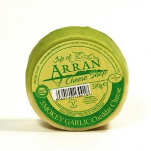 Arran smoked garlic flavoured cheddar cheese