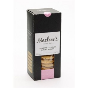 Maclean's Highland Bakery, Rhubarb & Custard Luxury Biscuits 150g